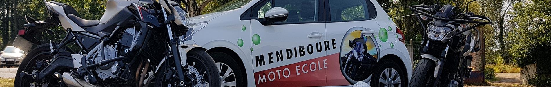 Bandeau moto-école Mendiboure formation
